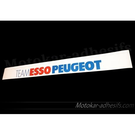 Autocollant Pare soleil Team esso Peugeot