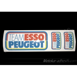 Autocollants stickers Team esso Peugeot