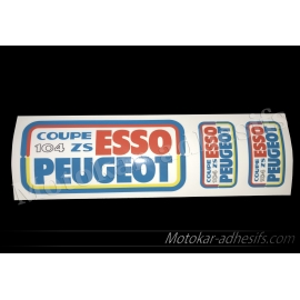 Autocollants stickers Coupe 104 zs Peugeot Esso