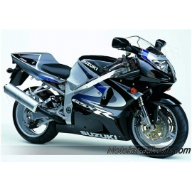 Autocollants - stickers Suzuki GSX-R 750 2000 version Noir/argent