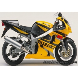 Autocollants - stickers Suzuki GSX-R 750 2002 version Jaune / noir