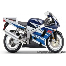 Autocollants - stickers Suzuki GSX-R 750 2003 version bleu/blanc