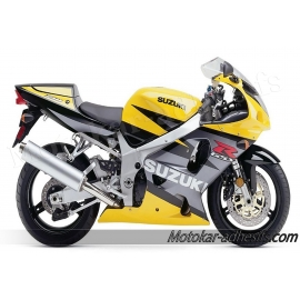 Autocollants - stickers Suzuki GSX-R 750 2003 version jaune / gris