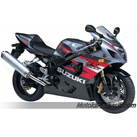 Autocollants - stickers Suzuki GSX-R 750 2004 version Noir / rouge