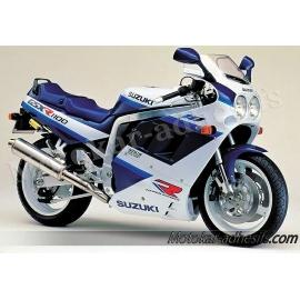 Autocollants - stickers Suzuki GSX-R 1100 année 1990 bleu blanc