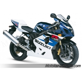 Autocollants - stickers Suzuki GSX-R 750 2004 version blanc /bleu