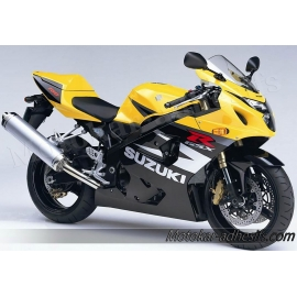 Autocollants - stickers Suzuki GSX-R 750 2004 version Jaune/ Noir