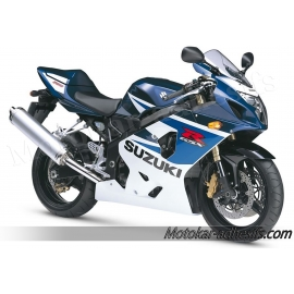 Autocollants - stickers Suzuki GSX-R 750 2005 version bleu / blanc