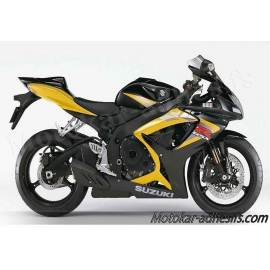 Autocollants stickers Suzuki GSX-R 750 2006 version jaune/noir