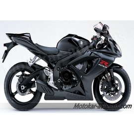 Autocollants stickers Suzuki GSX-R 750 2007 version noir
