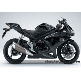 Autocollants stickers Suzuki GSX-R 750 2008 version noir