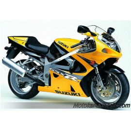 Autocollants - stickers Suzuki GSX-R 750 2000 version Jaune/ Noir