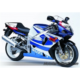 Autocollants - stickers Suzuki GSX-R 750 2000 version blanc /Bleue