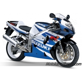 Autocollants - stickers Suzuki GSX-R 750 2002 version blanc /Bleue