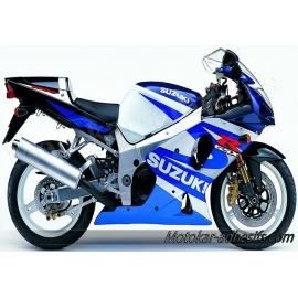 Autocollants stickers Suzuki GSX-R 1000 2001 - blanc/ bleu