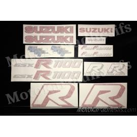Autocollants - stickers Suzuki GSX-R 1100 de 1986 à 1988