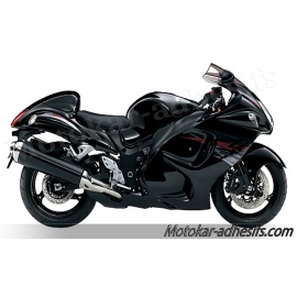 Autcollants stickers Suzuki Hayabusa 2012 version noir