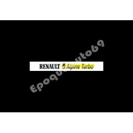 Pare soleil Renault 5 Alpine Turbo