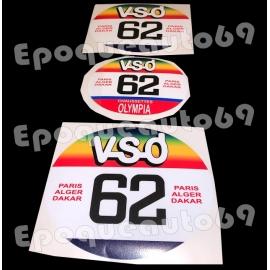 Autocollants stickers Dakar VSD Olympia