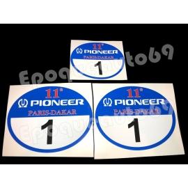 Autocollants Stickers Pioneer 11eme Dakar 1989