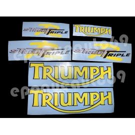 Autocollants Stickers triumph 675 street triple r
