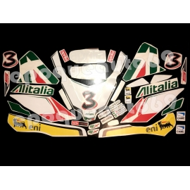 Autocollants stickers RS 50 MAX BIAGGI ALITALIA