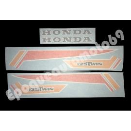 Autocollants Stickers HONDA CB 125 twin année 1979 (moto noire)