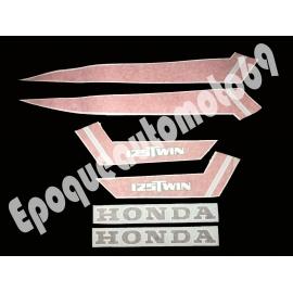 Autocollants Stickers HONDA CB 125 twin 1979