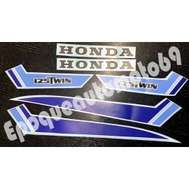 Kit autocollants Stickers HONDA CB 125 twin année 1979 (moto bleue)