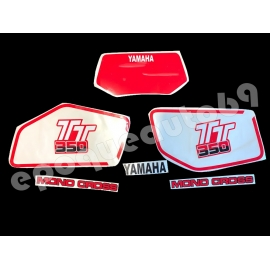 Autocollants stickers YAMAHA TT 350 année 1985