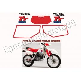 Autocollants Stickers YAMAHA TT 350 année 1987