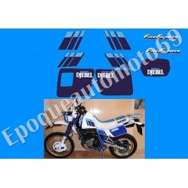 Autocollants - stickers suzuki Djebel 600 DR année 1989