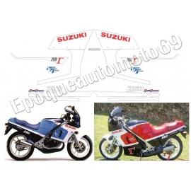 AUTOCOLLANTS STICKERS SUZUKI RG 250 GAMMA ANNÉE 1986