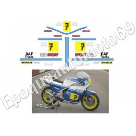 Autocollants - Stickers suzuki rg 500 gamma BARRY SHEENE