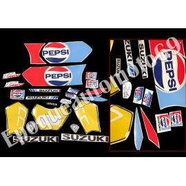 "Autocollants - Stickers suzuki rgv 250 gamma ""piste ""1989/1991 PEPSI"