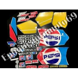 Autocollants - Stickers suzuki rgv 250 gamma année 1988/1990 PEPSI