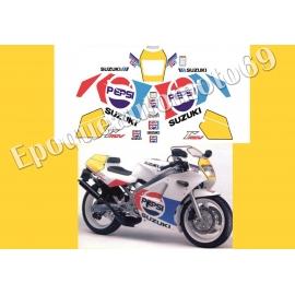 Autocollants - Stickers suzuki rgv 250 gamma année 1989 PEPSI