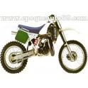 Autocollants stickers Cagiva WMX 250cc année 1988