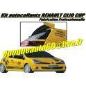 Kit autocollants renault clio cup