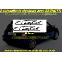 2 Autocollants Signature Jean RAGNOTTI
