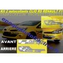 2 Autocollants RS Renault F1