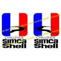 2 Autocollants SIMCA Shell challenge 1000