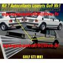 7 autocollants Liserets Volkswagen Golf GTI mk1