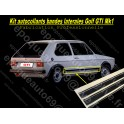 Kit Autocollants laterale Volkswagen Golf GTI Mk1