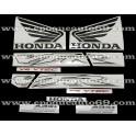 Autocollants - Stickers Honda VFR 800i année 2002 version argent