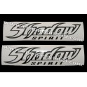 Autocollants - Stickers réservoir Honda Shadow spirit noir