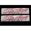 Autocollants - Stickers réservoir Honda Shadow spirit rouge chromé