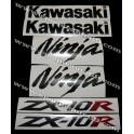 Autocollants - Stickers KAWASAKI ZX-10R année 2004 version vert