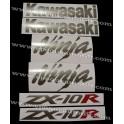 Autocollants - Stickers KAWASAKI ZX-10R année 2005 version argent