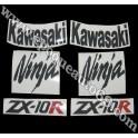 Autocollants - Stickers KAWASAKI ZX-10R année 2006 version vert